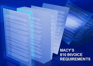 Macy's 810 EDI Invoice