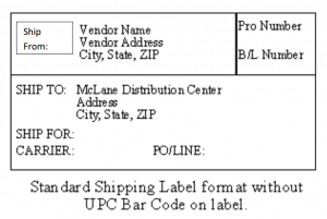 Label Guidelines for McLane Supplierss Shipments