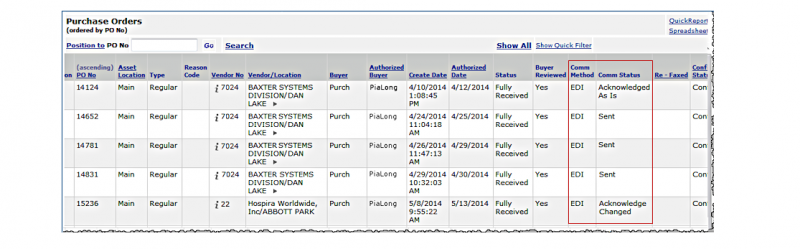 EDI Purchase Orders