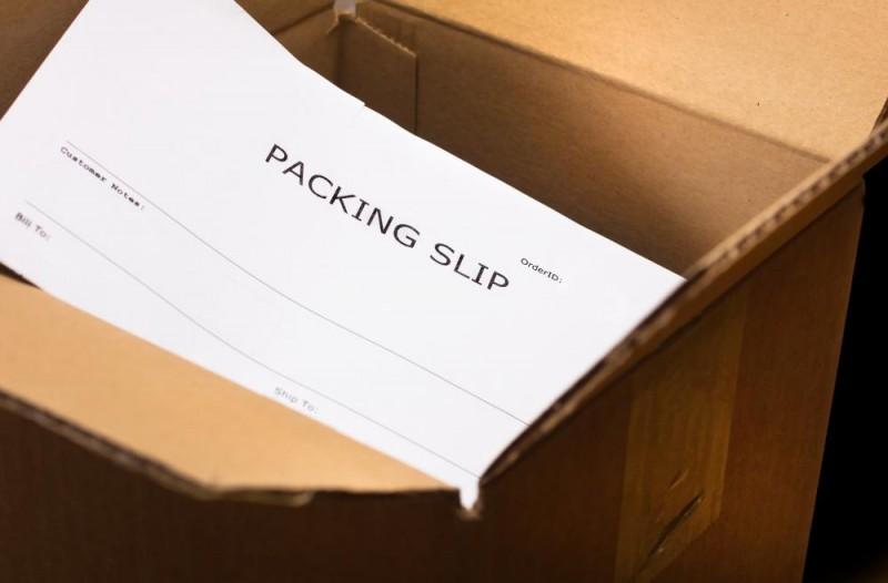 Packing Slip