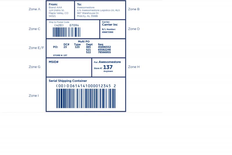 EDI carton label